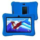 Pritom 7 Zoll Kids Tablet, Quad Core Android, 1 GB RAM + 16 GB ROM, WiFi, Bluetooth, Dual Camera, Schulung, Spiele, Kindersicherung, Kindersoftware mit vorinstallierter Kids-Tablet-Hülle (dunkelblau)