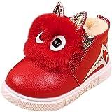 Kolylong Stiefel Mädchen (1-6 Jahre alt) Kinder Baby Mädchen Karikatur Sneaker Stiefel Herbst Winter Warme Schnee Stiefel wasserdichte Winterstiefel Kleinkind Schuhe Babyschuhe (22, Rot)