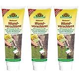 Gardopia Sparpaket - Neudorff Malusan Wundverschluss Pinseltube, Baum Wundbalsam, 3 x 275 ml, Plus Zeckenzange mit Lupe