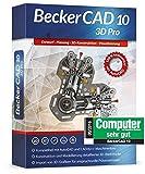 Becker Cad 10 3D Pro für Microsoft Windows 10-8-7-Vista-XP | Cad-Software für Architektur, Maschinenbau und Elektrotechnik | 3D Zeichenprogramm kompatibel mit Autocad