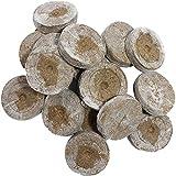 Kokos Quelltabletten Mit Nährstoffen, Quell-Tabletten, Zur Pflanzen Anzucht, Anzucht Von Stecklingen, Sämlingen Und Saaten, Premium Quelltabs (100 Stück)