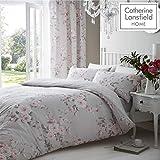 Catherine Lansfield Home Canterbury - Bettwäsche-Set mit Blumenmuster - Grau - Einzel