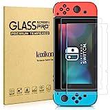 laxikoo 2 Stück Panzerglas für Nintendo Switch, HD Displayschutzfolie 9H-Härte Anti- Kratzer Bläschenfrei 2.5D Runde Kante Hohe Empfindlichkeit Panzerglasfolie für Nintendo Switch Schutzfolie