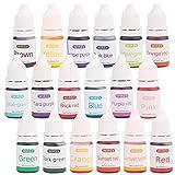 18 Farben seifenfarbe Set, für die Seifenherstellung Glycerinseife Rohseife - Epoxidharz Farbe flüssig - Resin Farbe, Epoxy Farbe, Farbpigmente für Epoxidharz, DIY Schmuckherstellung Basteln - je 5ml