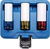 BGS 7200 | Kraft-Schoneinsatz-Satz | 3-tlg. | 12,5 mm (1/2') | SW 17 / 19 / 21 mm | mit Kunststoffhülse | farblich codiert