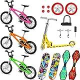 18 Stücke Mini Fingerspielzeug Set Finger Skateboards Finger Fahrrad Roller Winziges Schaukelbrett Fingerspitzen Bewegung Party Bevorzugt Ersatzräder und Werkzeuge