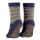 Piarini 2 Paar Kinder Stoppersocken ABS Socken Anti Rutschsocken Noppen Baumwolle Jungen Mädchen Blau Gr. 35 36 37 38