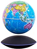 LULUTING Magnetic Levitation Schwebender Globus 6 Zoll Rotating Magnetic Abgehängte Globe Weltkarte schwimmender Kugel Bürodekoration Geburtstags-Geschenke Wohnkultur