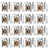Corrines 4 Set (16Stück) Federbelastete Spiegelaufhängung Clips Set mit Schrauben Ungerahmte Spiegelhalterung Spiegelhalter Clip mit Rawl Plugs.