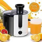 Aigostar Entsafter Gemüse und Obst Slow Juicer Maschine Saftpresse Elektrisch Automatisch mit 2 Stufen Edelstahl Trennscheiben großem Einfüllschacht für Äpfel Orange Karotten Möhren - Grape 30JDA
