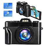 Digitalkamera Fotoapparat Digitalkamera Vlogging Kamera Videokamera 2,7K 30 MP 16-Facher Digitalzoom 3 Zoll 180° Flip-Screen Kompaktkamera Digitalkameras