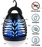 IREGRO Elektrischer Insektenvernichter Camping Mückenlampe UV Mückenschutz Outdoor Iinsektenfalle USB Moskito Killer Lampe mit Wiederaufladbarer Batterie, IPX6 Wasserdicht