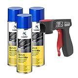 AUPROTEC Unterbodenschutz Wachs Steinschlagschutz Bottom Guard Wax Spray 3X 500ml + 1x Original Pistolengriff