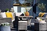 Outzone SetzDich Sitz-Gruppe Garten-möbel-Set Poly-Rattan-Lounge Lounge-Möbel Loungegruppe Terrasse Grau