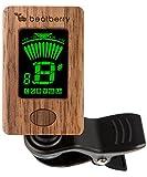 Beatberry Clip-On Stimmgerät aus Holz | Chromatischer Tuner für Gitarre Bass Ukulele Banjo Cello Geige | Mit hochwertiger Geschenkverpackung | Perfekt als Weihnachtsgeschenk für Musiker