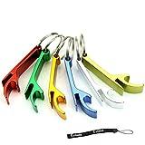 Flyyfree Schlüsselanhänger, 5 Stück, mit Flaschenöffner, klein, Schlüsselanhänger mit Ring