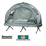 Semptec Urban Survival Technology Zeltliege: 4in1-Zelt mit Feldbett, Sommer-Schlafsack und Matratze (Liege mit Zelt)
