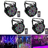 LED Par Licht, UKing 4pcs 72W LED Par Strahler DMX Disco Lichteffekte Bühnenbeleuchtung 7 Modi mit Wireless Fernbedienung für Hochzeit Weihnachten Partylicht