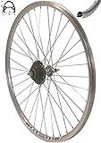Exal Redondo 28 Zoll Laufrad Hinterrad inkl. 7 Fach Shimano Schraubkranz Felge Alu Rad