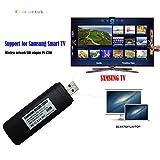 Fancartuk USB-Wlan-Adapter für Samsung Smart TV, 802.11ac, 2,4 GHz und 5 GHz Dual-Band, kabelloser Netzwerk USB Wlan Adapter, unterstützt Windows XP / Vista / 7 / 8 / 10, Mac OS X 10.6 - 10.13