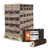 PALIGO Holzbriketts Hartholz Pinikay Octagon Kamin Ofen Brenn Holz Heiz Brikett 10kg x 96 Gebinde 960kg / 1 Palette Heizfuxx