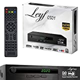 Leyf Satellite Receiver PVR Recording Function Digital Satellite Receiver (HDTV, DVB-S /DVB-S2, HDMI, SCART, 2X USB, Full HD 1080p) [Pre-Programmed for Astra, Hotbird and Türksat] + HDMI Cable