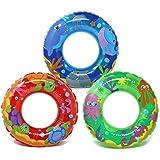 com-four 3X Schwimmreifen, Schwimmring mit verschiedenen Tier-Motiven [Auswahl variiert], Ø 44 cm (003 Stück - Ø 44 cm Tiere)