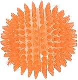 Rosewood 38304 Jolly Doggy leuchtender Fang und Spielball mit Gumminoppen für Hunde, 8cm