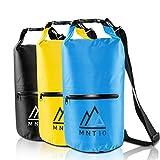 MNT10 Dry Bag Packsack wasserdicht mit Tragegurt I Dry Bags Waterproof 20l I Wasserfeste Tasche für Reisen, Outdoor und Camping I Seesack wasserdicht und widerstandsfähig (Blau, 20 Liter)