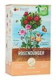 Plantura Bio Rosendünger mit 3 Monaten Langzeitwirkung, 1,5 kg, für prächtige Rosen in Beet & Topf, Bio-Qualität, gut für den Boden, unbedenklich für Haus- & Gartentiere