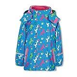 Sterntaler Mädchen Regenjacke mit Innenjacke, 3in1 Multifunktionsjacke, Alter: 7-8 Jahre, Größe: 128, Azurblau