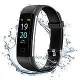 MEDGUARD Fitness tracker   Schrittzähler   Pulsoximeter   Pulsmesser   Herzfrequenzmessung   Schlafüberwachung   Integriertes GPS   IP68   wasserbeständig   Shake Fotos   0,96 Zoll TFT-LCD   Bluetooth