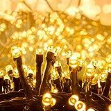 Quntis 2000 LEDs 50M Lichterkette Außen Warmweiß, Weihnachtsbeleuchtung Innen Strombetrieben, IP44 Cluster Lichterkette, 8 Modi Weihnachtsdeko für Garten Weihnachtsbaum Büsche Balkon Terrasse Zimmer