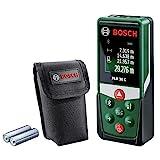 Bosch Laser Entfernungsmesser PLR 30 C (App Funktion, 3x AAA Batterien, Schutztasche, Messbereich: 0,05 - 30 m)