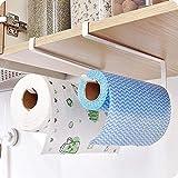 Voarge Küchenrollenhalter zur Befestigung an Schranktüren und zur Unterschrankmontage, 2 Papier Handtuchhalter Spender unter Schrank, ohne Bohren für Küche Badezimmer