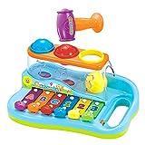Baby-Xylophone zur frühen Bildung für 18 monaten alte Babys, mit 3 farbigen Kugeln und kleinem Hammer, für Kinder, Jungen und Mädchen
