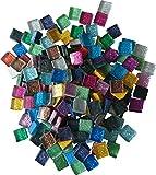 400g 10x10 Mosaiksteine Glitzermosaik Glitzer Glitter bunt ca 445 Stück Mosaik 1x1