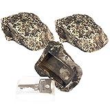 Lunartec Schlüssel Stein: Schlüsselversteck in Stein-Optik, 3er-Set (Stein Versteck)