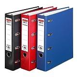 Doppelordner 3er Pack farbig sortiert maX.file protect A4 rot schwarz blau 7cm 2xA5quer Ablage Wechselfenster