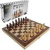 ecope Schachspiel / magnetisches Schachbrett / Spielkassette und Figuren aus Holz