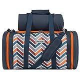 anndora Picknick Kühltasche inkl. Picknick Decke Geschirr Besteck 4 Personen dunkelblau orange