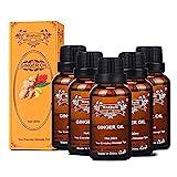 Ingweröl, SPA-Massageöle, ätherisches Pflanzenöl, Ingweröl für die Massage der Lymphdrainage, Körpermassageöl fördern die Durchblutung, lindern Muskelkater (ginger)