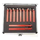 QWXZ Holzwerkzeuge 11pcs 10 * 10mm, 8 * 8mm Carbide-Spitze Gespitzte Bit Set Brazed-Fräser-Werkzeuge for Metall-CNC-Drehmaschine, Drehen Schweißen Werkzeughalter Stanzpositionierung
