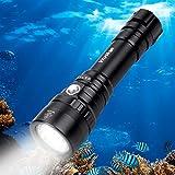 Wurkkos Tauchlampe, 2000 Lumen Taschenlampe, 150m wasserdicht Submarine Licht,XHP35 HD LED-Tauchlampen mit 1x18650 Akku und Ladegerät, IPX-8 wasserdicht für Aktivitäten im Innen- und Außenbereich