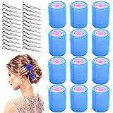 TANCUDER 60 PCS Aufheizbarer Lockenwickler Kunststoff Haar Roller Mutifarbe Haftwickler Selbstbandend Haarspange Entenzähne für Damen (44 mm, 30 mm, 20 mm)