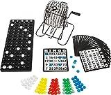Legler-Bavaria Home Style Collection Bingo Spiel Set mit Bingotrommel aus Metall | 75 Kugeln | 18 Bingo Spiel Karten | 150 Bingochips | Ergebnisbrett | Gesellschaftsspiele | Geschenkideen Spieleabend
