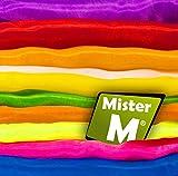 20 Tücher  Geprüft In der EU Zusammengestellt  Rhythmik, Jonglier, Tanz Tücher  mit GRATIS online Jonglier Lern Video - von MisterM (20 Stück)