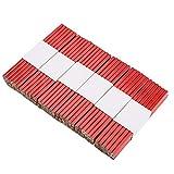 Zimmermanns-Bleistifte, 72 Stück 175 mm Zimmermannsbleistift-Set, oval, Tieflochmarker, Baubleistift, Zimmererbleistift, Markierungswerkzeug, rot
