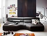 XXL Sofa Tara Big Sofa Wohnlandschaft Stoff grau mit Kissen 292x75x148cm (B/H/T)