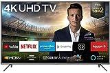 TCL 43EP640 Fernseher 108 cm (43 Zoll) Smart TV (4K UHD, HDR 10, Triple Tuner, Android TV, Micro Dimming, Prime Video, Alexa und Google Assistant) Schwarz [Modelljahr 2019]